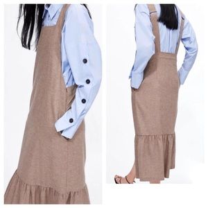 ZARA Pinafore Style Dress With Adjustable Straps